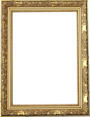 11 Gold Picture Frame Template PSD Images
