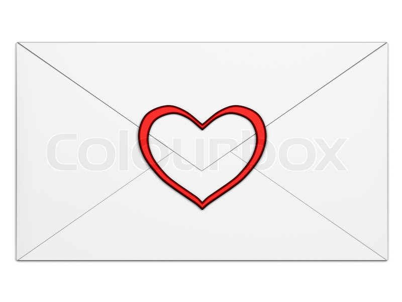 Red White Envelope with Symbol