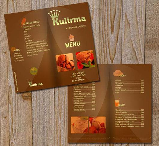 Restaurant Menu Brochure
