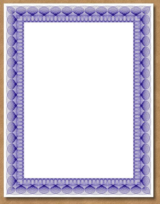 Sample Certificate Borders