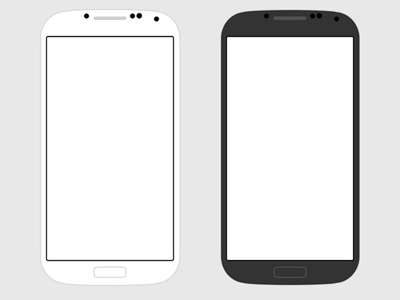 12 Samsung Galaxy S4 PSD Mockups Images