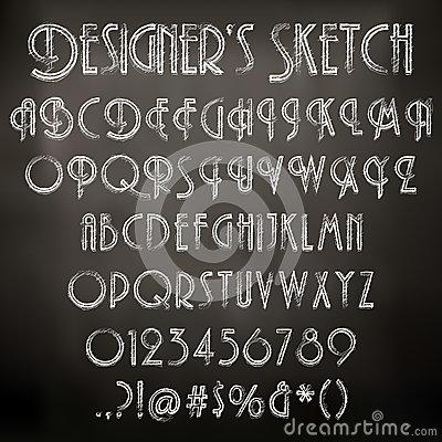 Sketched Chalkboard Font