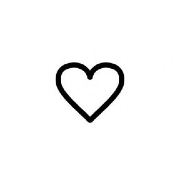 Small Heart Icon White