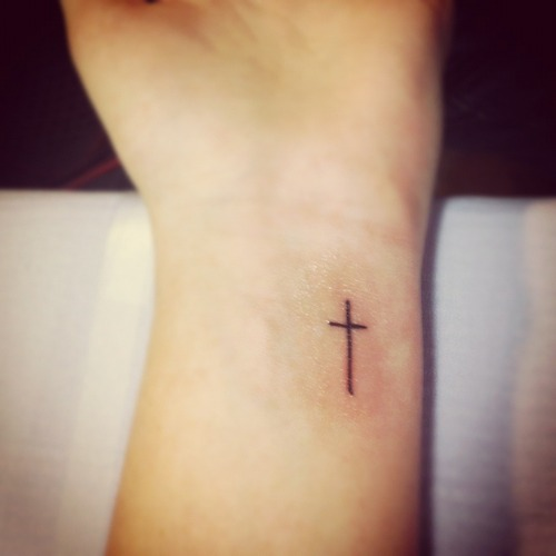 Small Simple Cross Tattoos