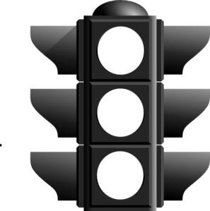Stop Light Clip Art Black and White