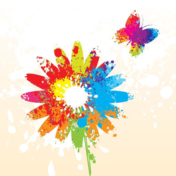 Summer Flower Vector Graphic
