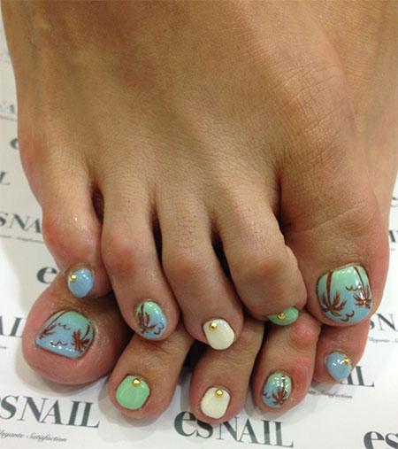 Summer Toe Nail Art Designs 2014