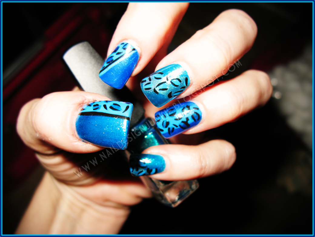 12 Teal Blue Nail Designs Images