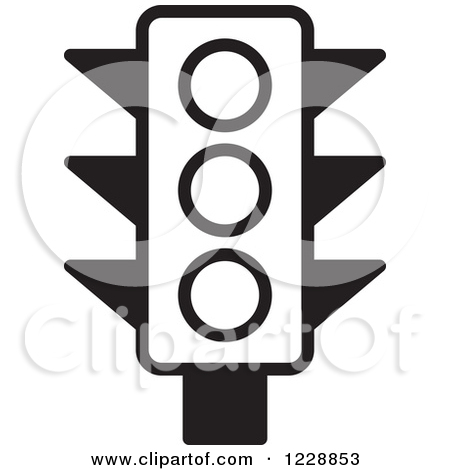 Traffic Light Clip Art Black and White