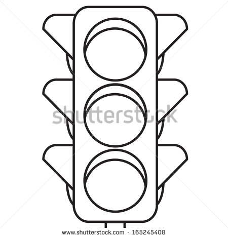 Traffic Lights Clip Art Black Outline