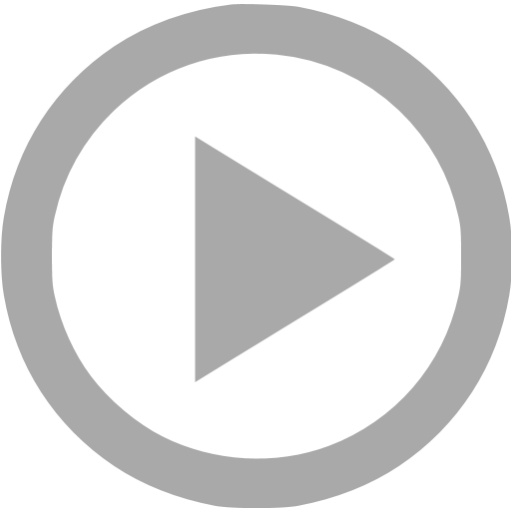 Transparent play button icon