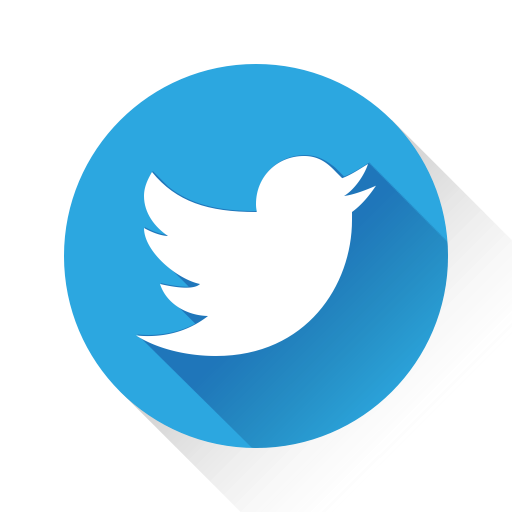 13 flat round twitter icons images twitter icon round