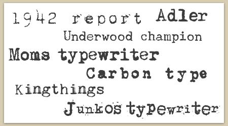 15 Typewriter Font Name Images - Old Typewriter Font