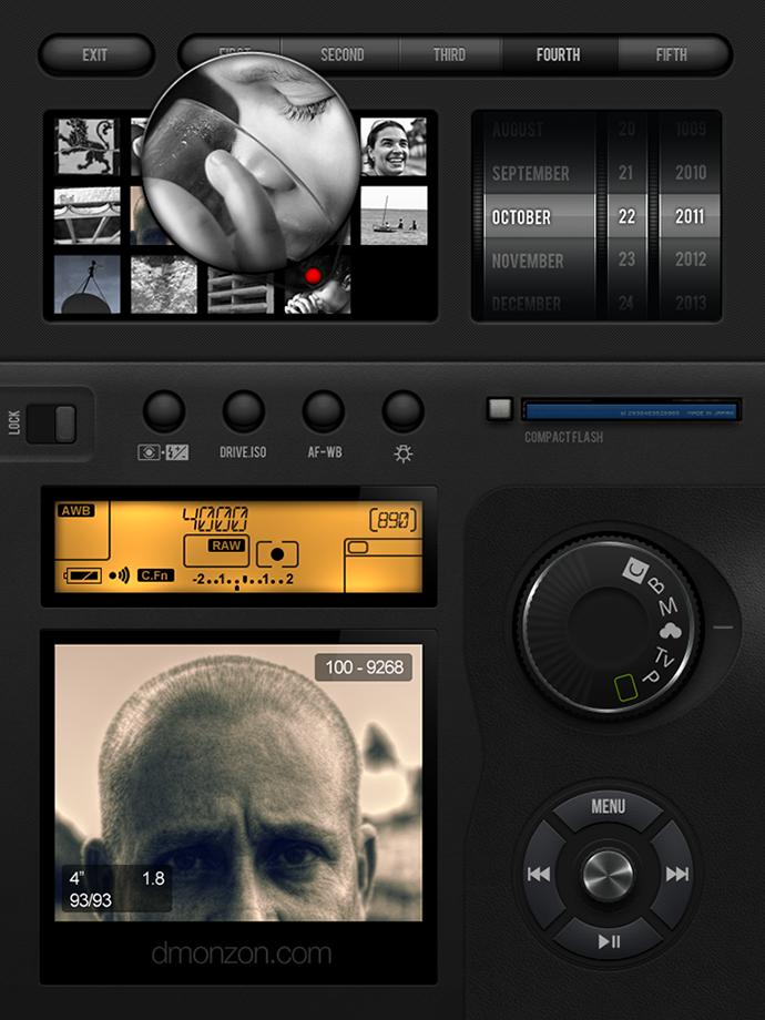 11 Camera UI PSD Images