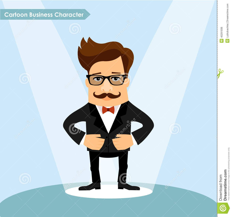 Vector Business Man Cartoon Character