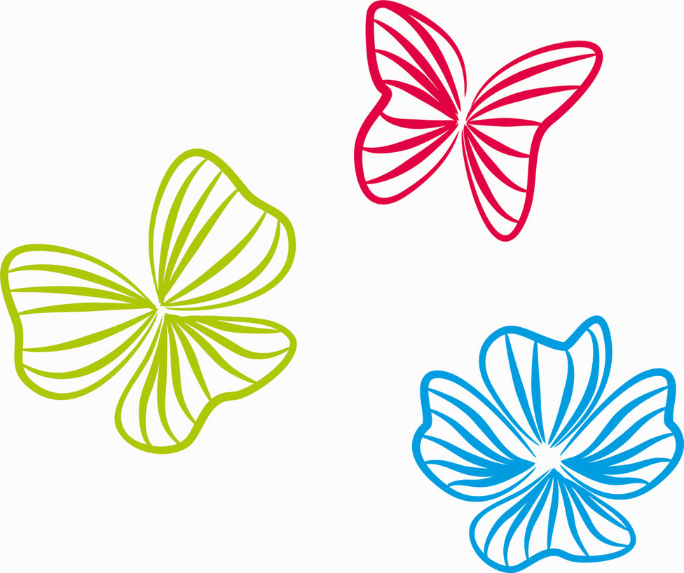 Vector Flowers and Butterflies