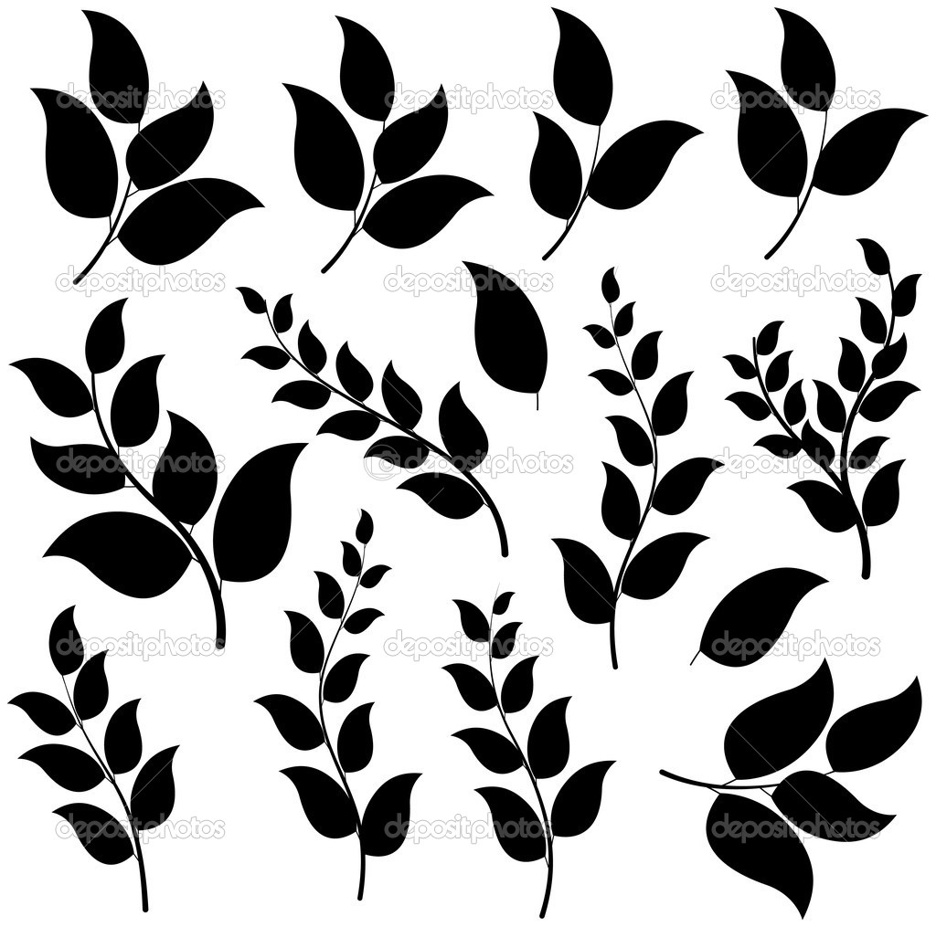 17 Leaf Shaped Vectors Images Leaves Silhouette Vector