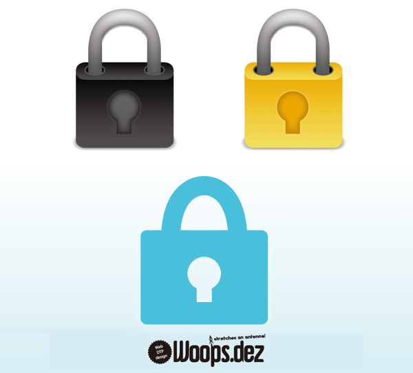 5 Lock Icon Vector Images