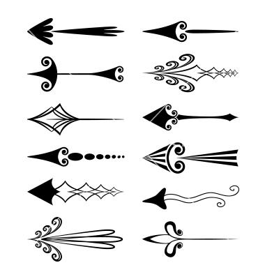 13 Vintage Arrow Vector Images