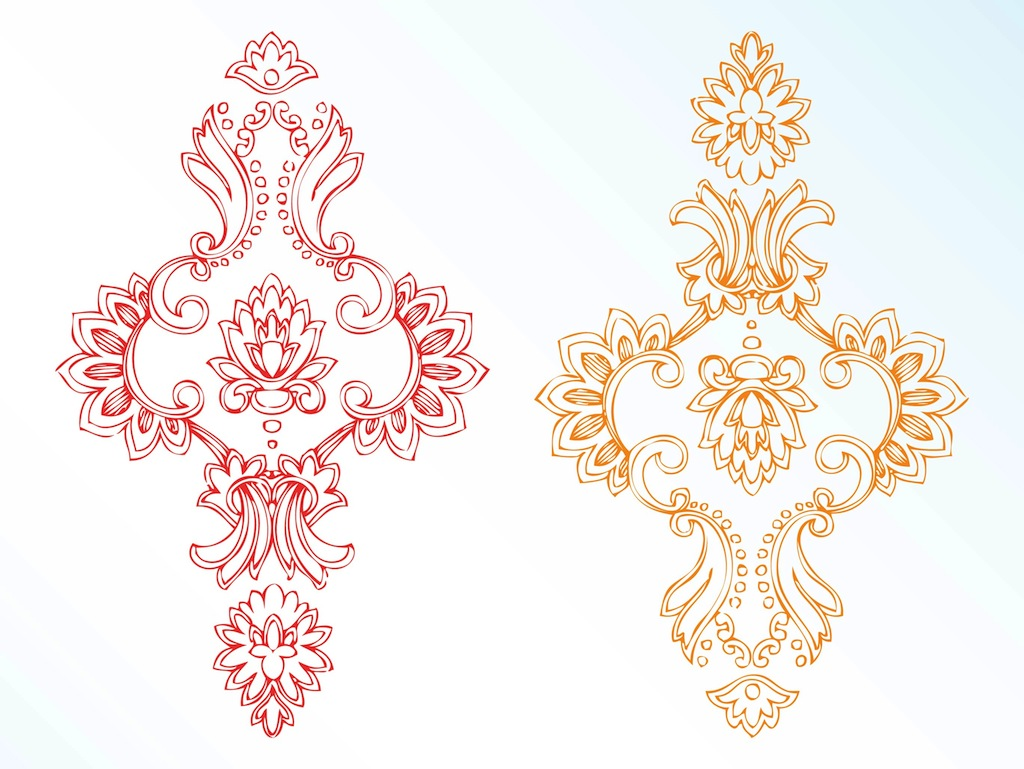 Vintage Flower Vector Art
