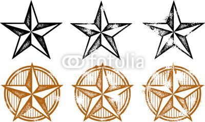 Vintage Western Star Clip Art