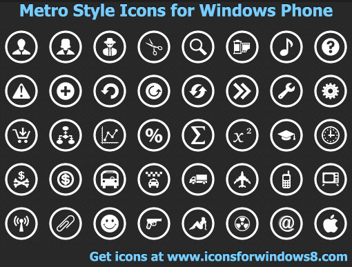 11 Metro Style Icons Images