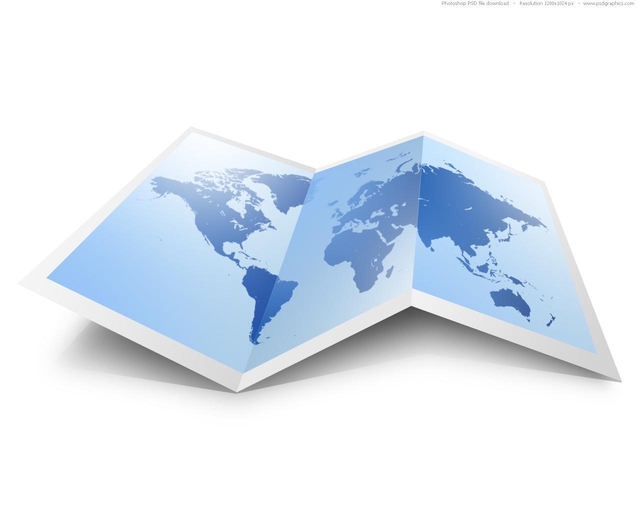 14 Folded Map Icon Images