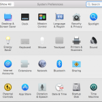 Yosemite Mac OS X System Preferences