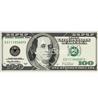 17 Hundred Dollar Bill Vector Art Images