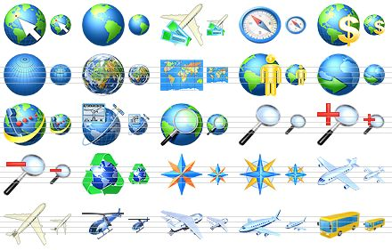 6 GPS Navigation Icon BMP Images