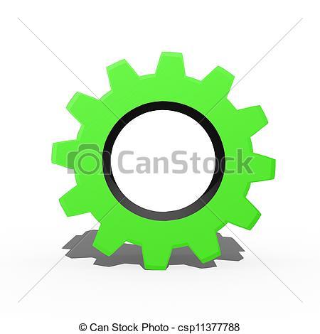 3D Gears Clip Art
