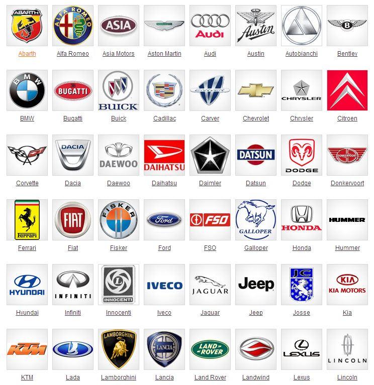 All Car Brand Logos