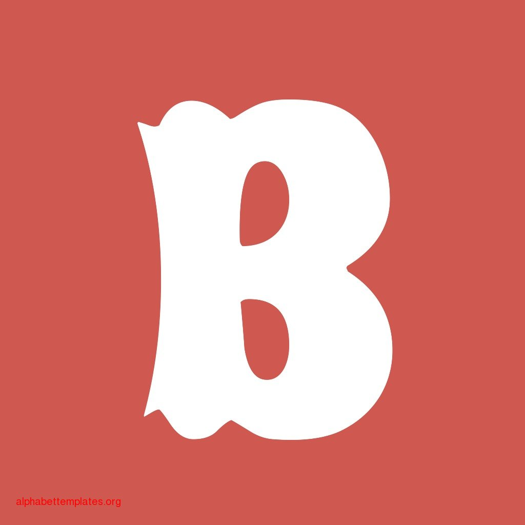 Alphabet Letter B Template
