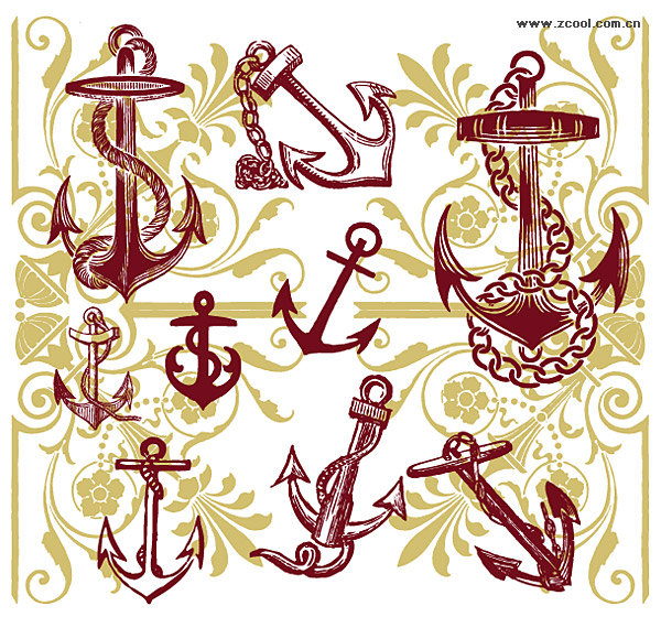 10 Anchor Pattern Vector Images