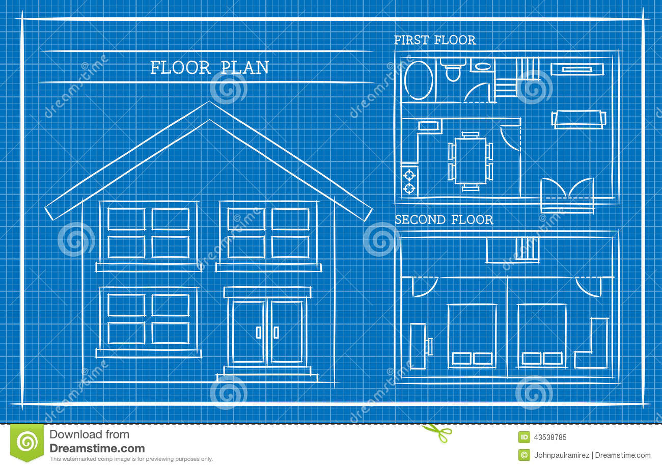 Blueprint home design for Architecture blueprints