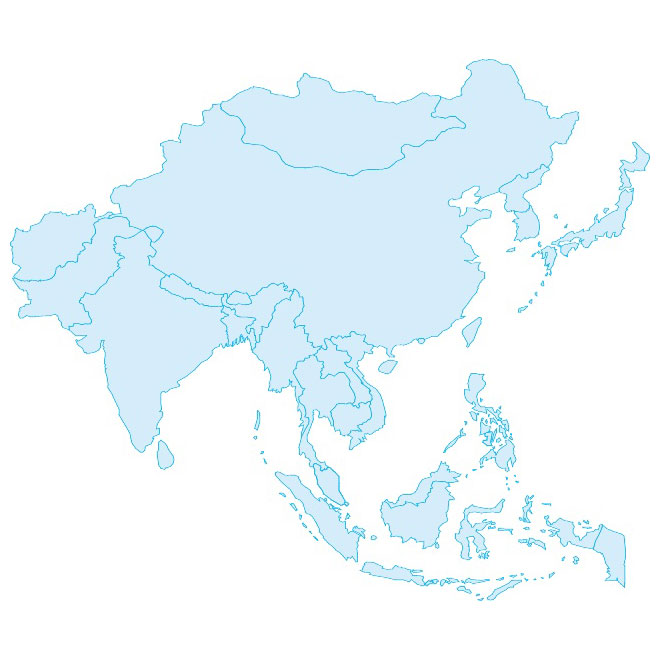 Asia Pacific Map Outline