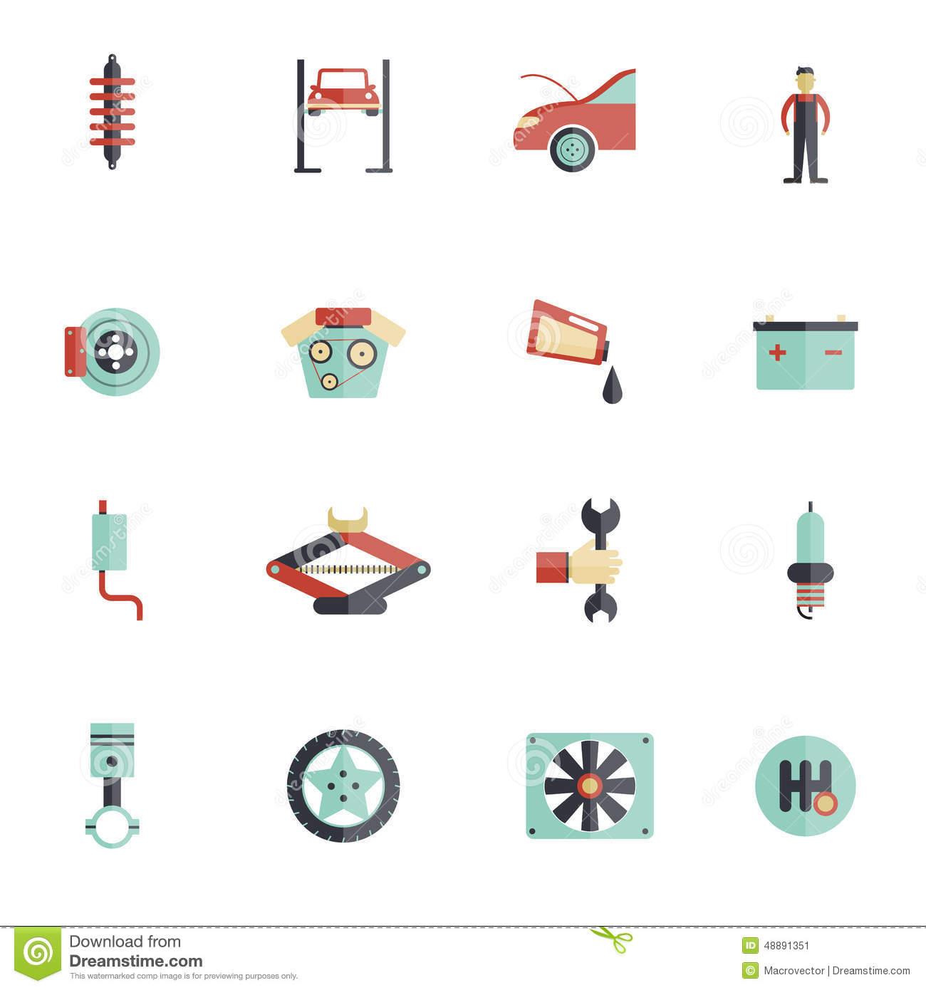 Auto Maintenance Symbols