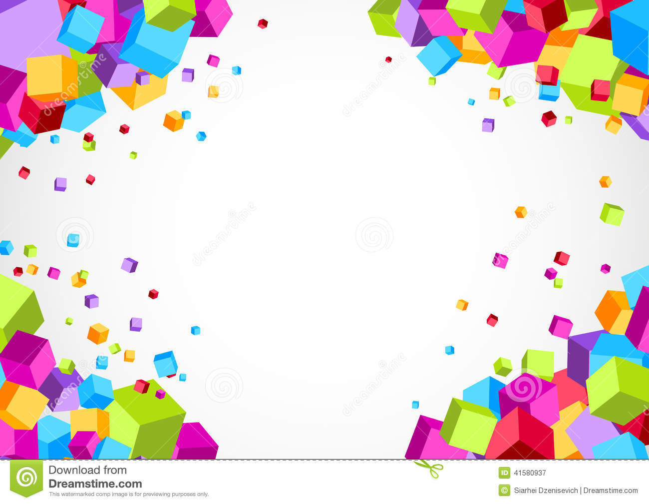 Background Colorful Vector Cube