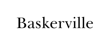 Baskerville Old Face Font