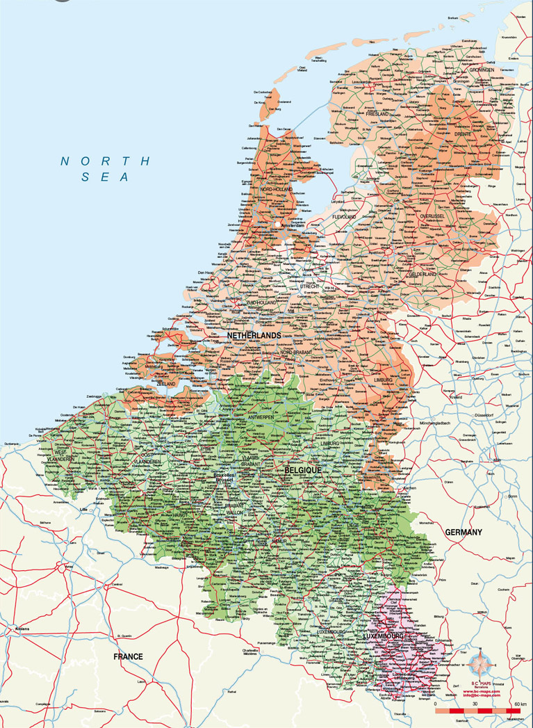 Benelux Countries Map