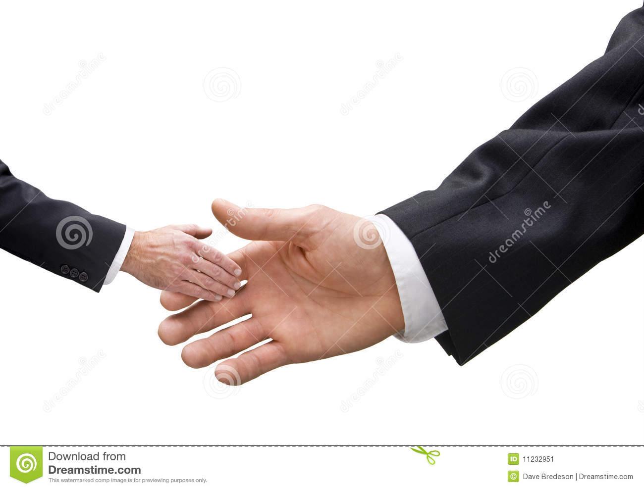 Big and Small Business Handshake