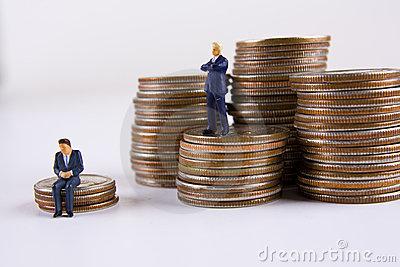 Big vs Small Business Man