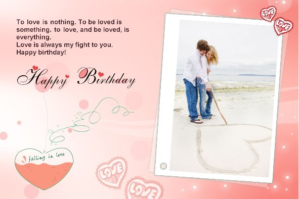 Birthday Card Template Photo