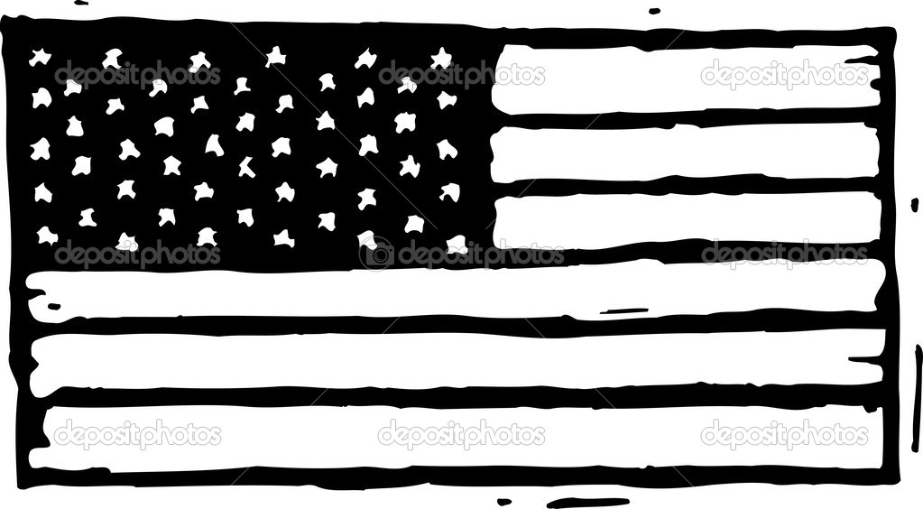 Black And White Torn American Flag Png Pictures To Clipart (#2416931) -  PinClipart