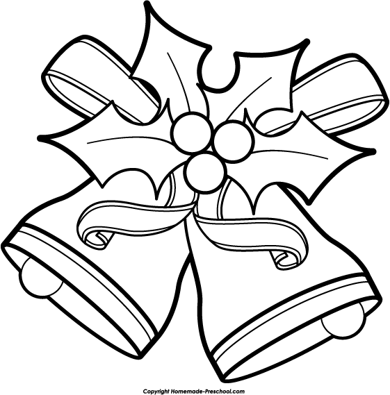 Black and White Christmas Clip Art