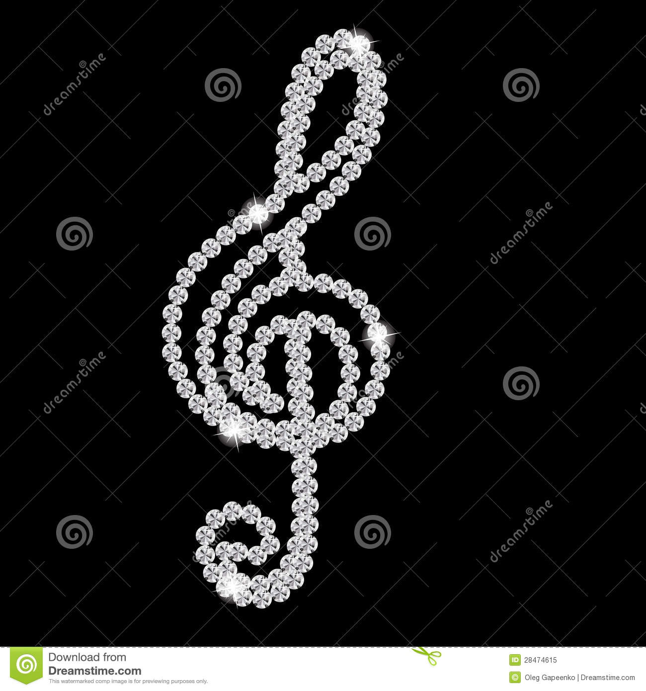 Black Diamond Music Note