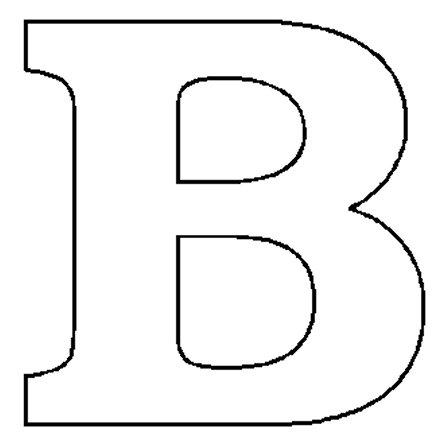 Block Letter B
