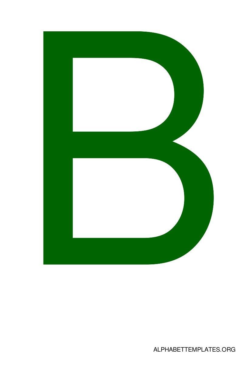 Blue Alphabet Letter B Template