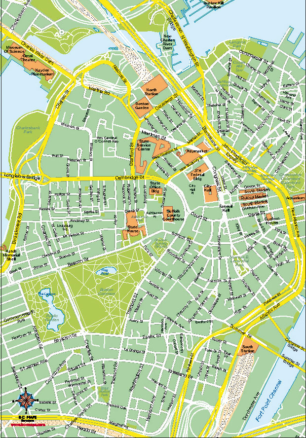 Boston Digital Vector Map