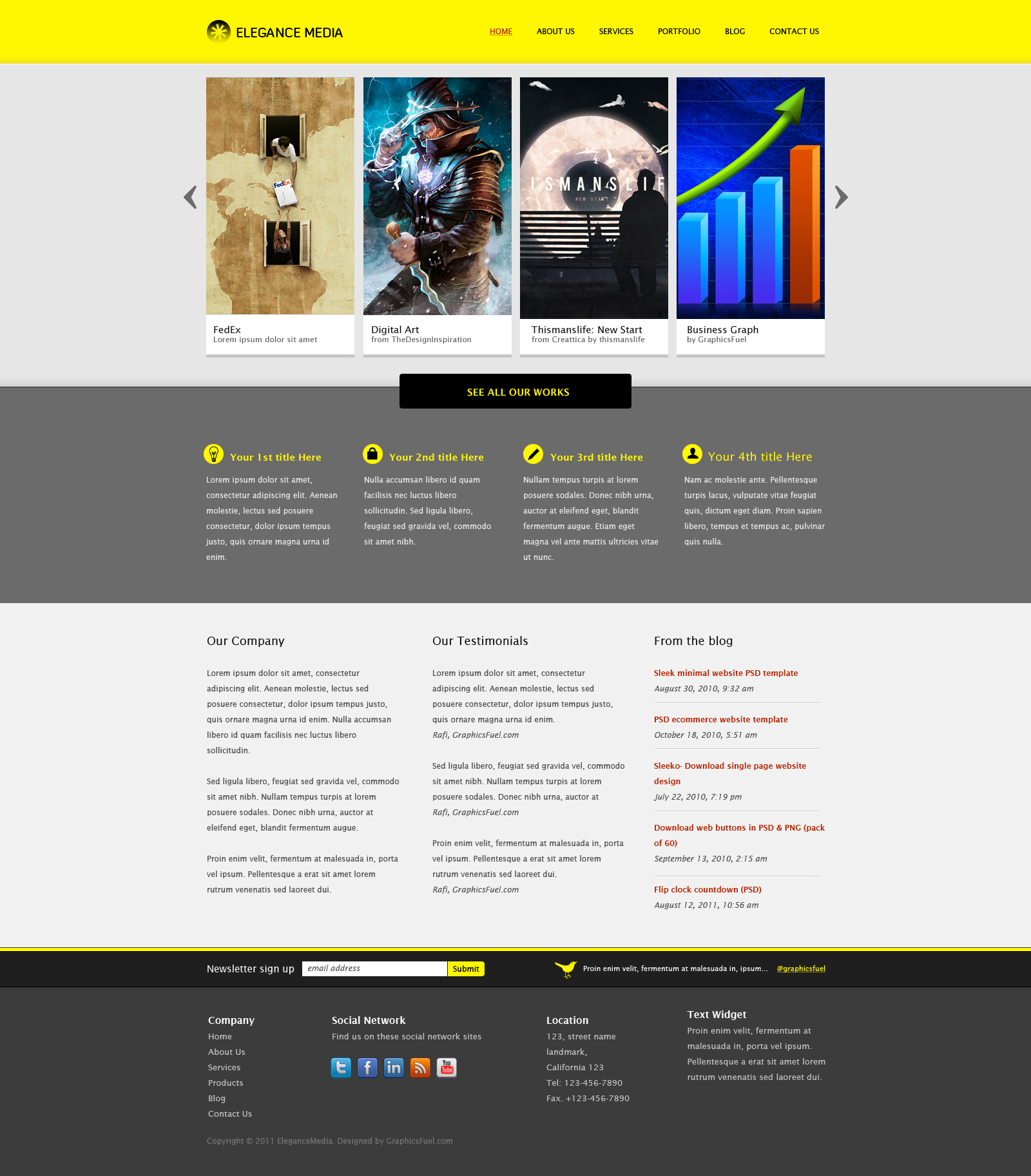 12 Free Business Website Template Psd Images Business Website